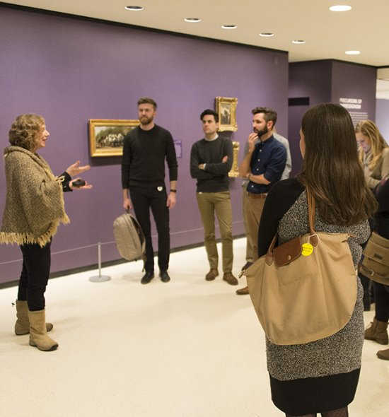 Docent Kate Soudant leads a tour of Monet and the Impressionist Revolution