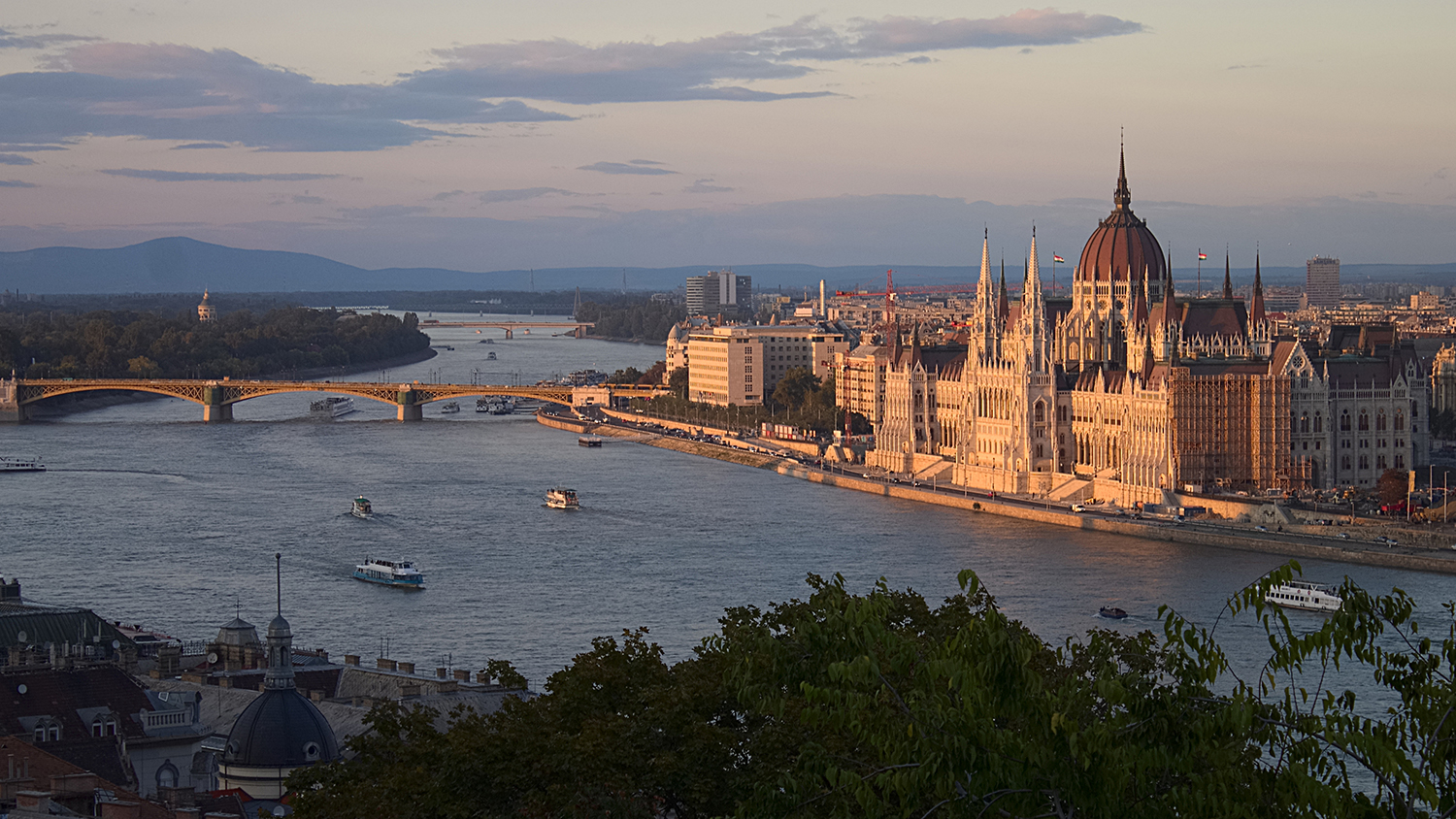 View of the Parliament and the Danube from the Royal Palace