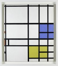 Composition No. 11, 1940-42--LONDON, with Blue, Red and Yellow
