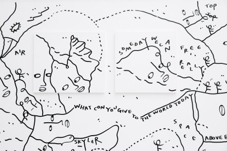 Detail of a mural inShantell Martin: Someday We Can