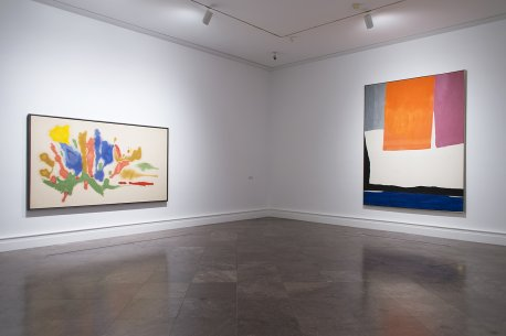 Two paintings by Helen Frankenthaler
