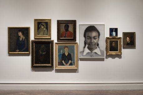 Installation view of Eye to Eye: Looking Beyond Likeness