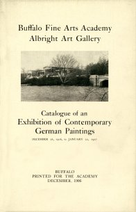 Cover of Catalogue of an Exhibition of Contemporary German Paintings