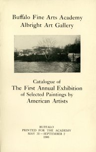 Cover of The First Annual Exhibition of Selected Paintings by American Artists