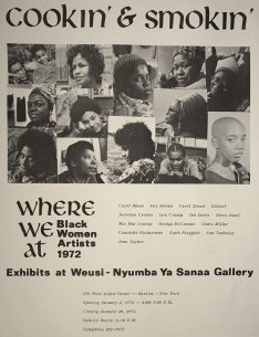 1972 Exhibition Poster for Where We At Collective's Cookin' and Smokin'