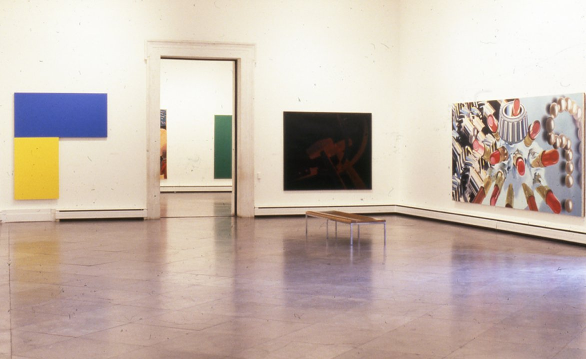 Installation view of American Painting of the 1970s