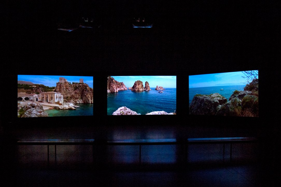 Installation view of Videosphere: A New Generation