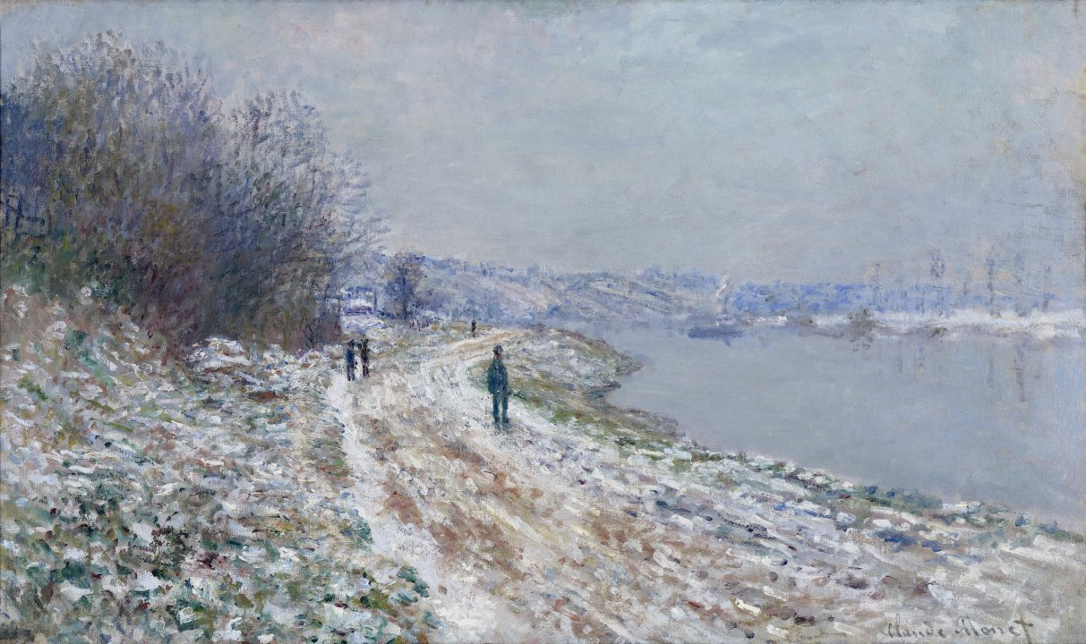 Chemin de halage à Argenteuil (Towpath at Argenteuil, Winter)