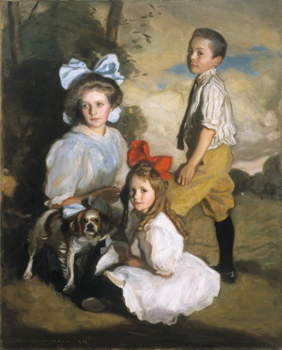 Portrait of Three Knox Children
