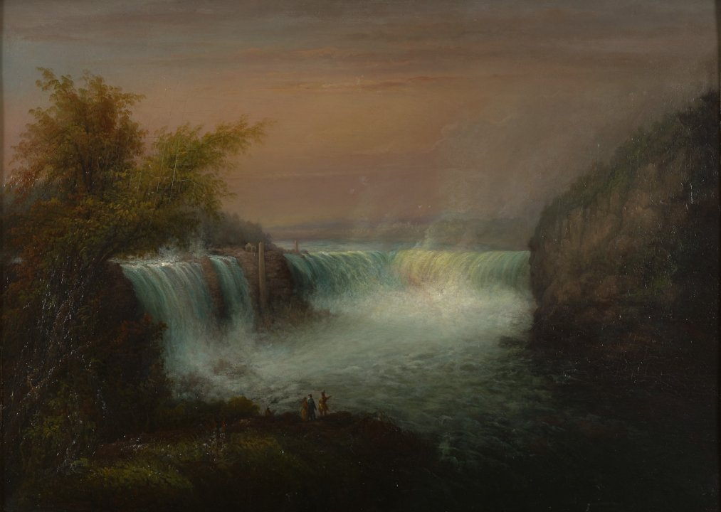 View of Goat Island and Niagara Falls