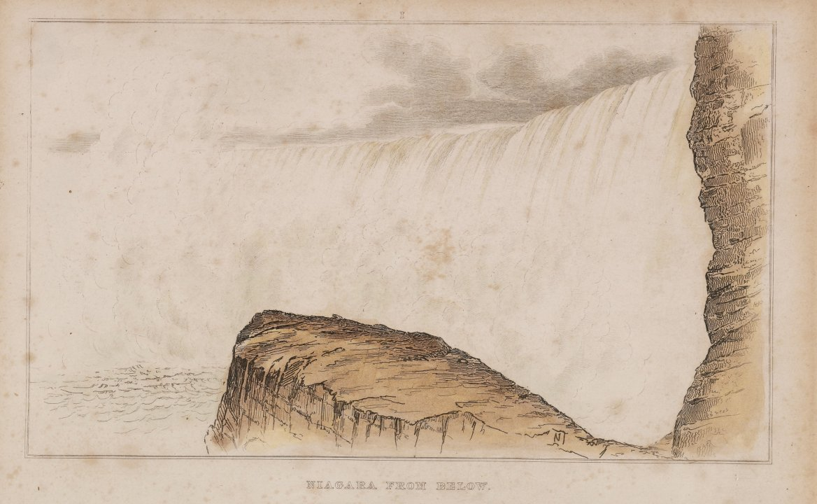 Niagara From Below from the series Forty Etchings from Sketches made with the Camera Lucida in North America