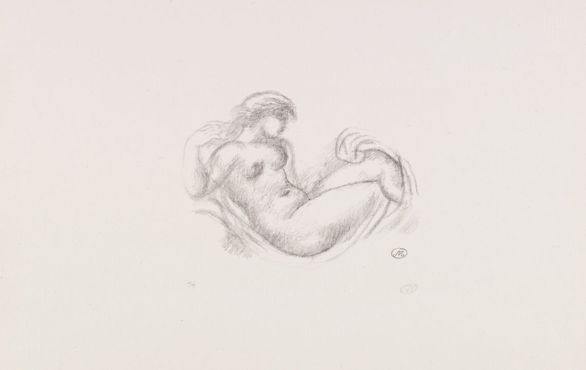 Reclining Nude (version 1) from the portfolio Aristide Maillol: Sculpture and Lithography