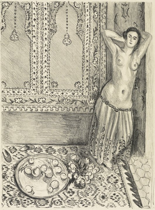 Odalisque debout au plateau de fruits (Standing Odalisque with Tray of Fruit)