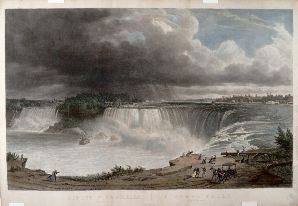 View of Niagara Falls from Table Rock