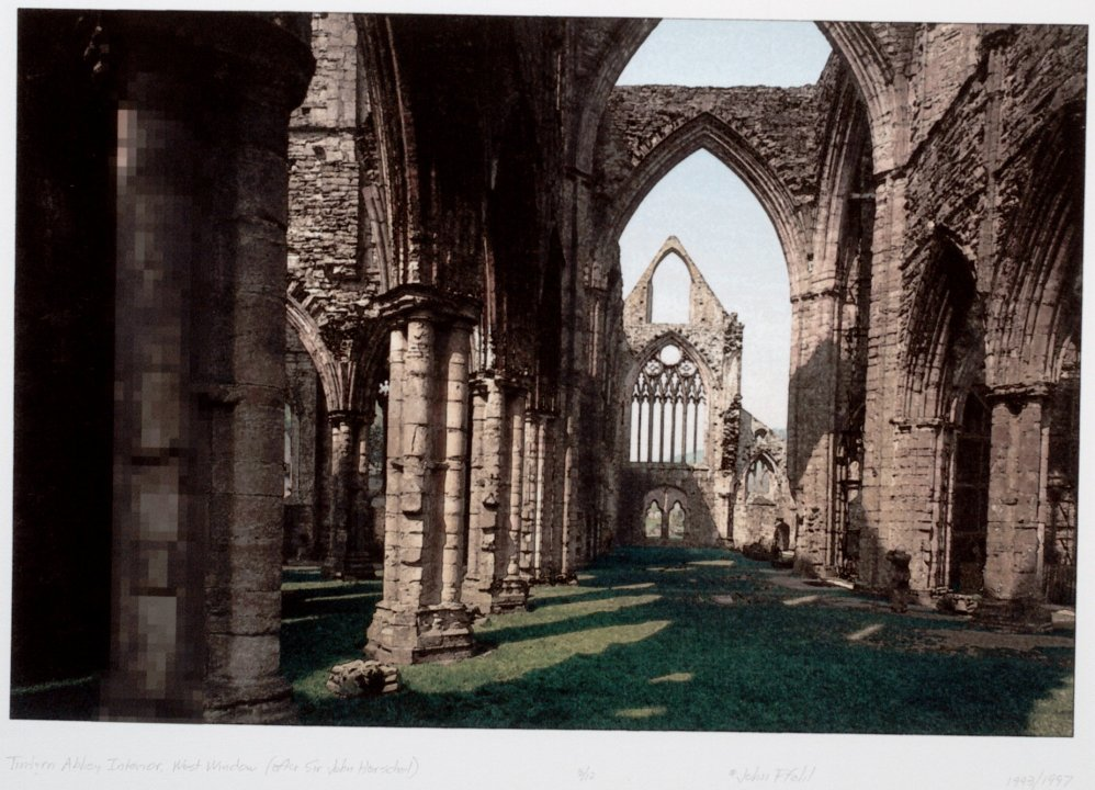 Tintern Abbey Interior, West Window (after Sir John Herschel) from the portfolio Permutations on the Picturesque