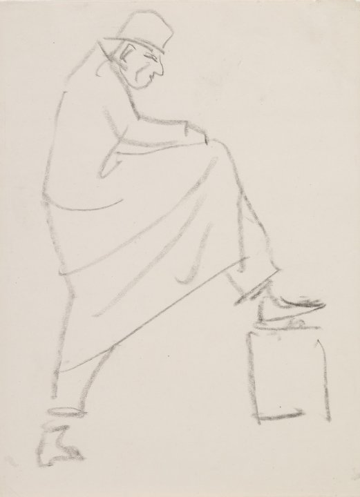 Man with Foot on Box