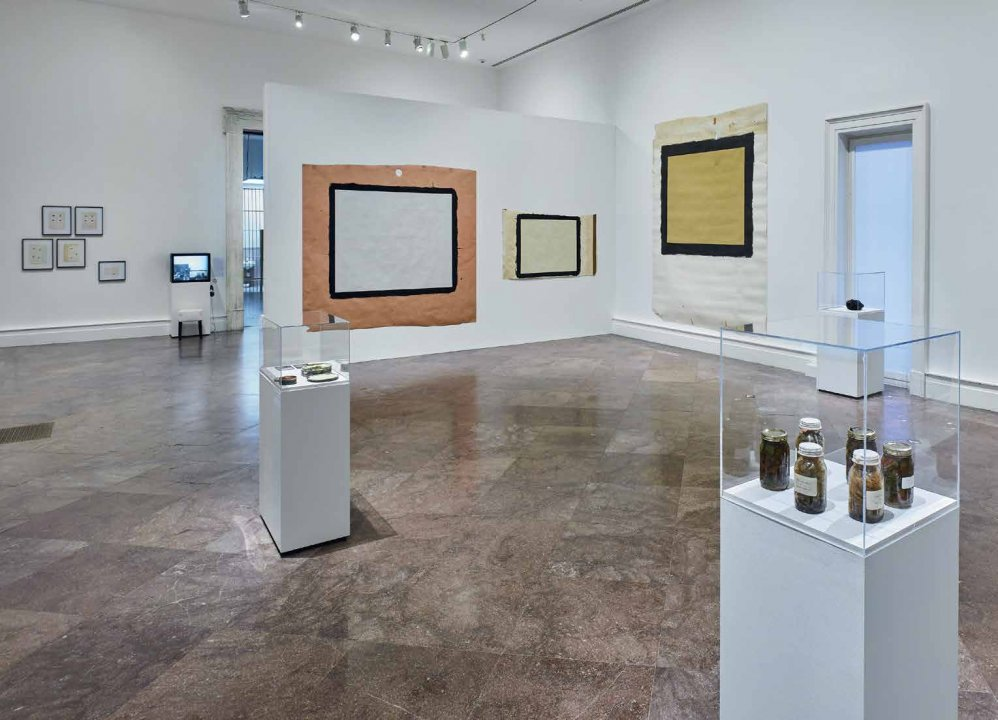 Installation view of Introducing Tony Conrad: A Retrospective