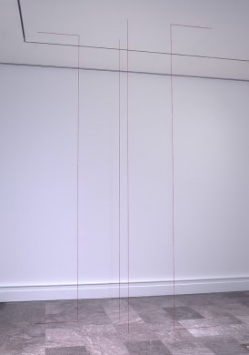 Fred Sandback's Untitled (Sculptural Study, Four‑part Vertical Construction), ca. 1982/2004