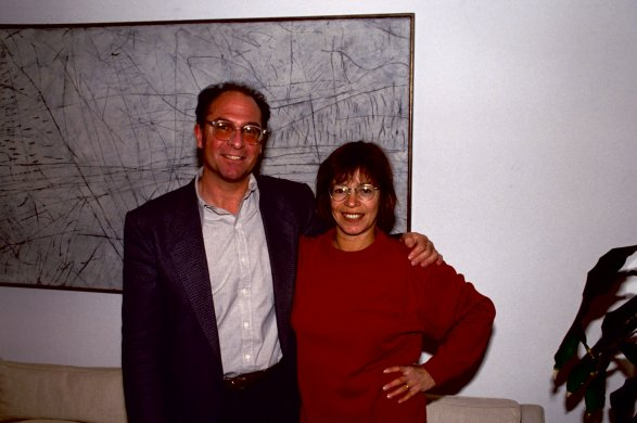 Albright-Knox Chief Curator Michael Auping and artist Susan Rothenberg at the opening of Susan Rothenberg: Paintings and Drawings, Albright-Knox Art Gallery, November 13, 1992