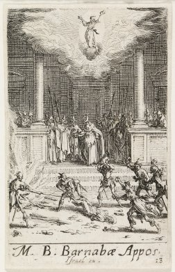 The Martyrdom of St. Barnabas from the series The Martyrdoms of the Apostles