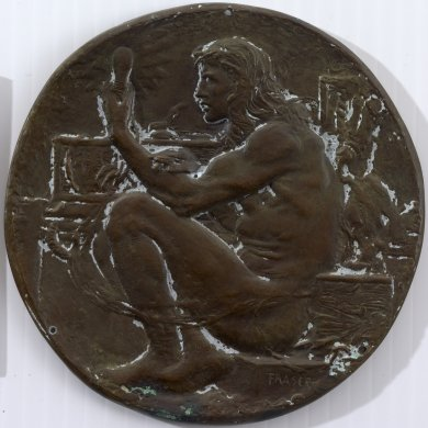 Sketch cast of a Medal Honoring Edison