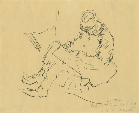 The Letter: Bois le Prêtre from the series Nine Drawings Made at the Front, World War I