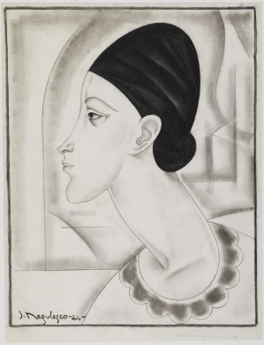 Caricature of a Woman's Head