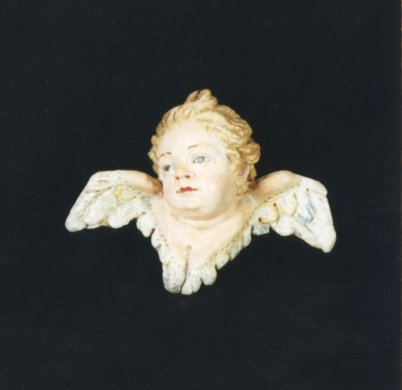 Cherub Head and Wings from Crèche