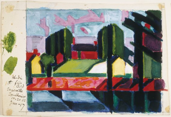 Study for Old Canal (Red & Green)
