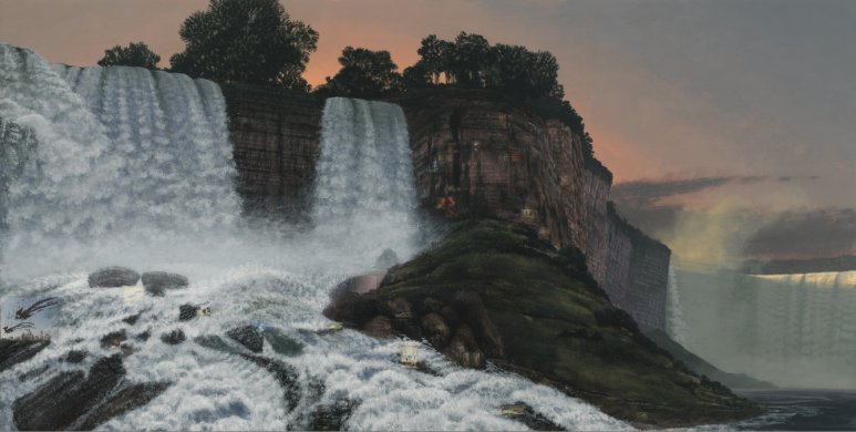 Stephen Hannock's The Great Falls; for Xu Bing (MassMoca #180), 2013