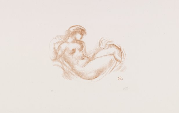 Reclining Nude (version 2) from the portfolio Aristide Maillol: Sculpture and Lithography