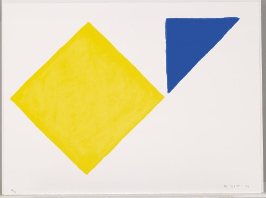 Yellow Square Plus Quarter Blue from the portfolio A Poem for Alexander