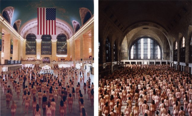 New York 2 (Grand Central) 2003 and Buffalo 3 (Central Terminal, Albright-Knox Art Gallery) 2004