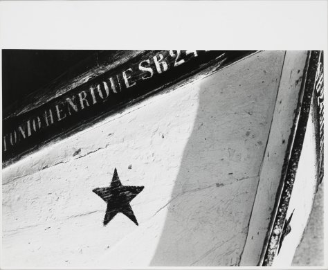 "Untitled (Fishing Boat Bow with ""Henrique SB24 and Star"")"