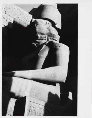Untitled (Egypt, Sculpture of Seated God, Abu Simbal before Aswan Dam...)