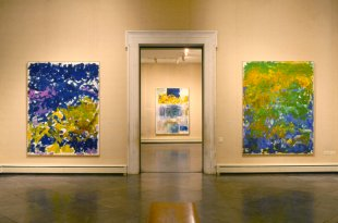 Installation view of Joan Mitchell at the Albright-Knox Art Gallery