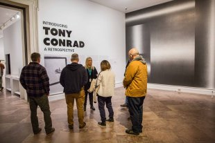Assistant Curator Tina Rivers Ryan leads a gallery talk on Introducing Tony Conrad: A Retrospective