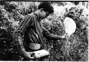 Tony Conrad making field recordings, Atlanta, 1965