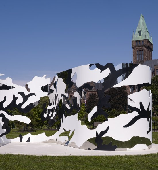 Jim Hodges's look and see, 2005, on the Richardson Olmsted Campus in Buffalo