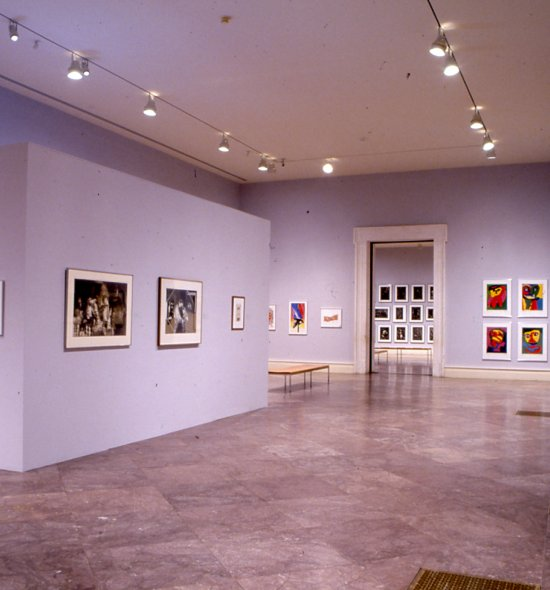 Installation view of Rembrandt to Rauschenberg: The Norton Print Collection
