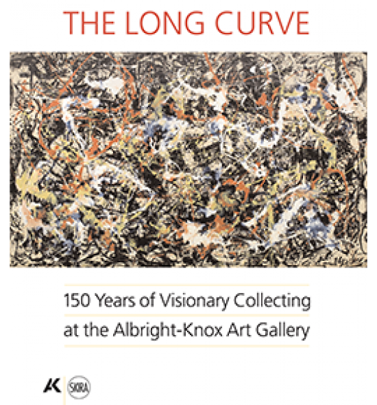 "Cover of the book ""The Long Curve: 150 Years of Visionary Collecting at the Albright-Knox Art Gallery,"" featuring Jackson Pollock's ""Convergence,"" 1952"