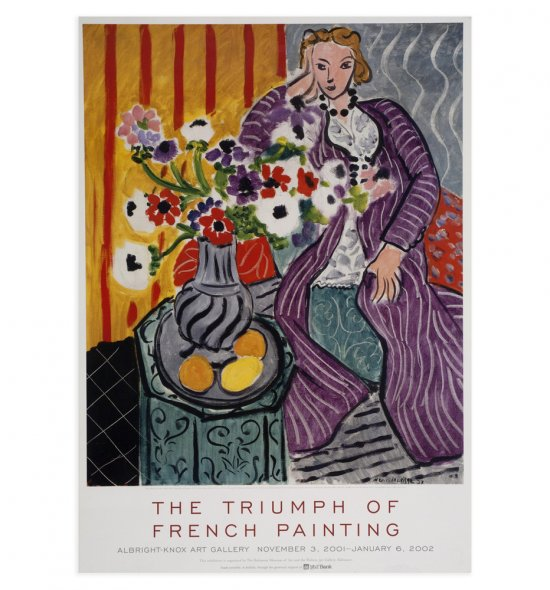 "Poster of Matisse's ""Purple Robe and Anemones"", 1937"