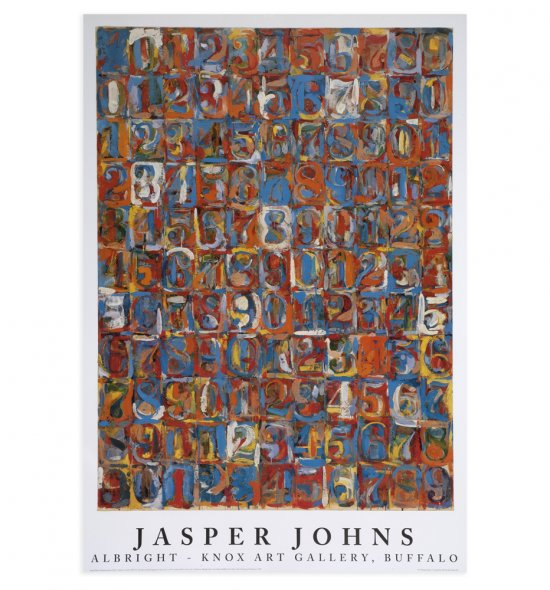 poster of Jasper Johns's Numbers in Color, 1958–59