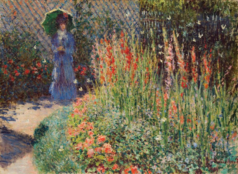 Claude Monet's Rounded Flower Bed, 1876