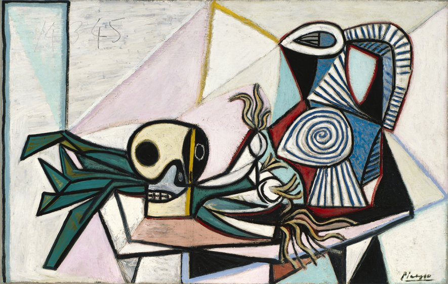 Pablo Picasso's Still Life with Skull, Leeks, and Pitcher, March 14, 1945, 1945