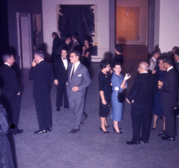 Guests at the members' opening for Paintings by Clyfford Still, Albright Art Gallery, November 4, 1959